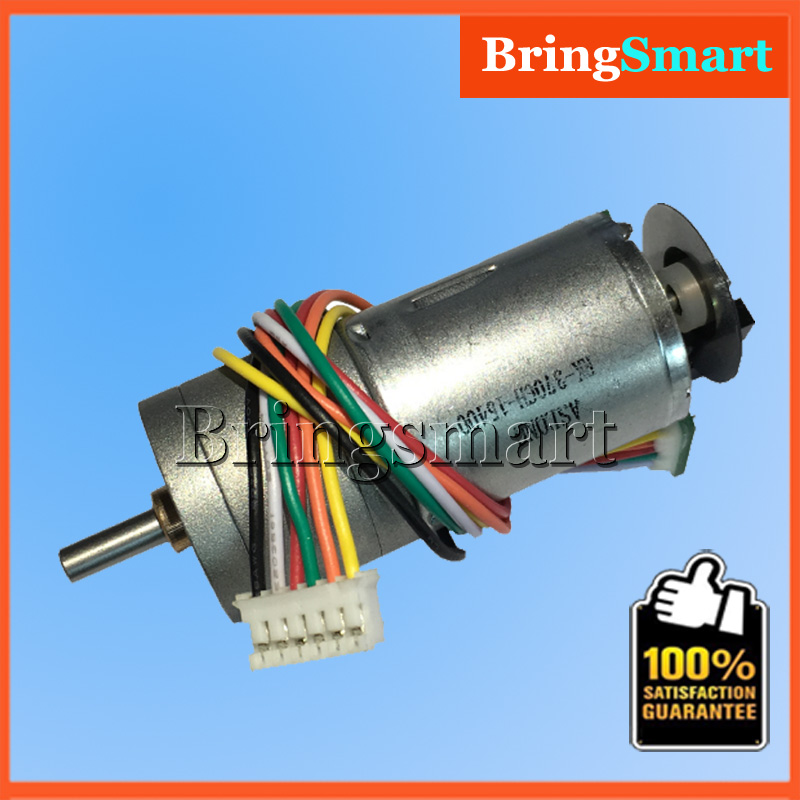 Bringsmart GA25-371G 12V DC Geared Motor Optical Encoder 6-24V 8.6-977rpm Optical Encoder Motor with Encoder Disk Moter DIY optical encoder with switch 61by22026 with stepper 16 00