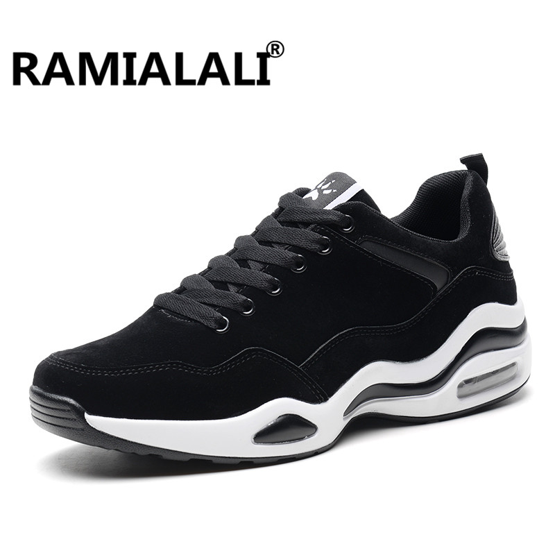Ramialali Men Sneakers Leather Breathable Sport Light Running Shoes For Male Trainers Walking Outdoor Sport Comfortable