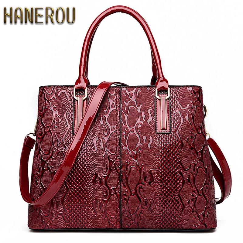 Нова мода PU кожа жените чанта дами луксозни змия рамо чанти дизайнер чанти високо качество 2019 пролетта дамска чанта