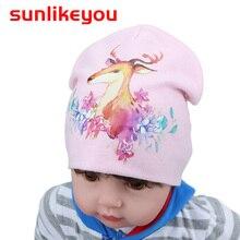 Sunlikeyou Cotton Printing Caps For Baby Newborn Infant Hat Spring Autumn Winter Children Kids Warm Girl Boy Beanie