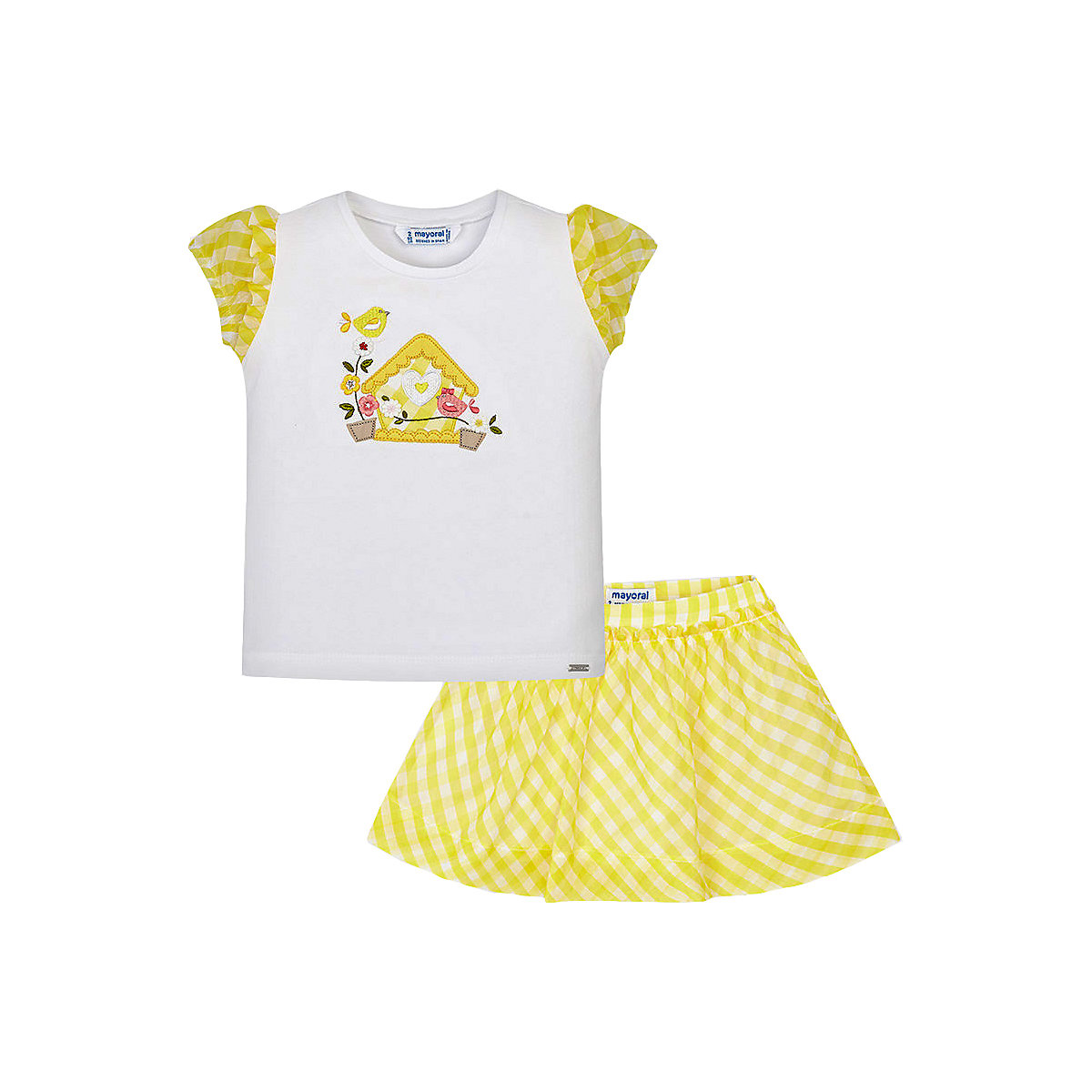 Фото - Baby's Sets MAYORAL 10685260 set of clothes for kids T-shirt legs shirt shorts girls and boys shein kiddie girls white striped side casual top and shorts two piece set clothes sets 2019 spring long sleeve kids suit set