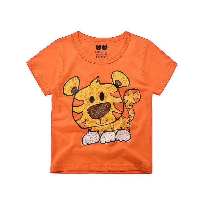 2017 Hot Brand Boys T Shirt Tiger Tops Tee Kids Tops