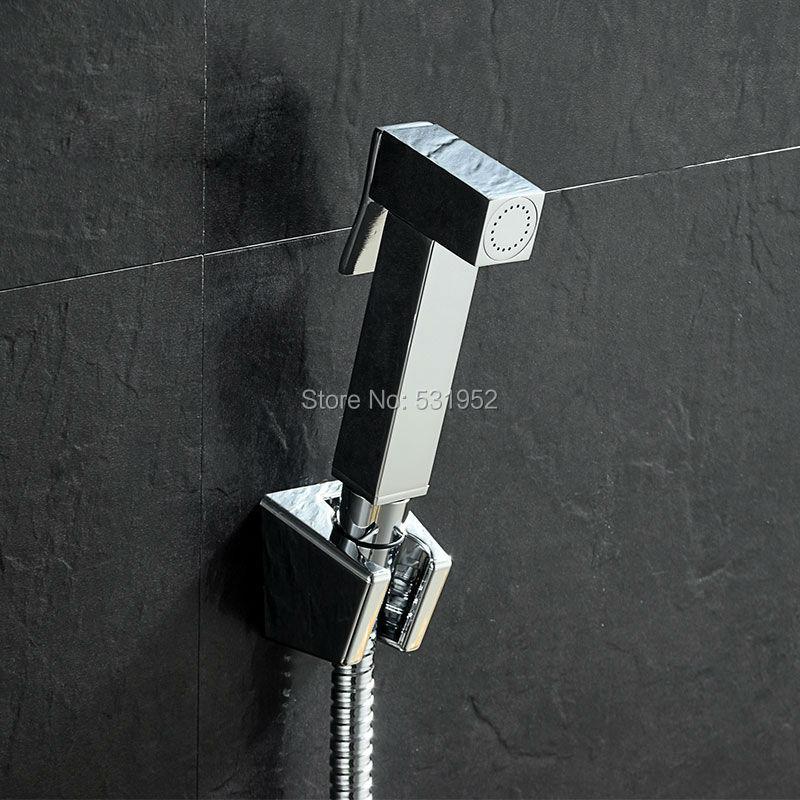 High Quality Wall mouted Toilet Brass Bidet Spray Shattaf Shower Kit Sprayer Jet with Shut off ValveHigh Quality Wall mouted Toilet Brass Bidet Spray Shattaf Shower Kit Sprayer Jet with Shut off Valve