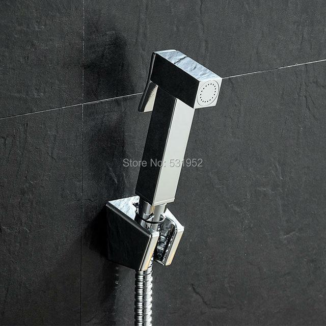 High Quality Wall mouted Toilet Brass Bidet Spray Shattaf Shower Kit Sprayer Jet with Shut off Valve