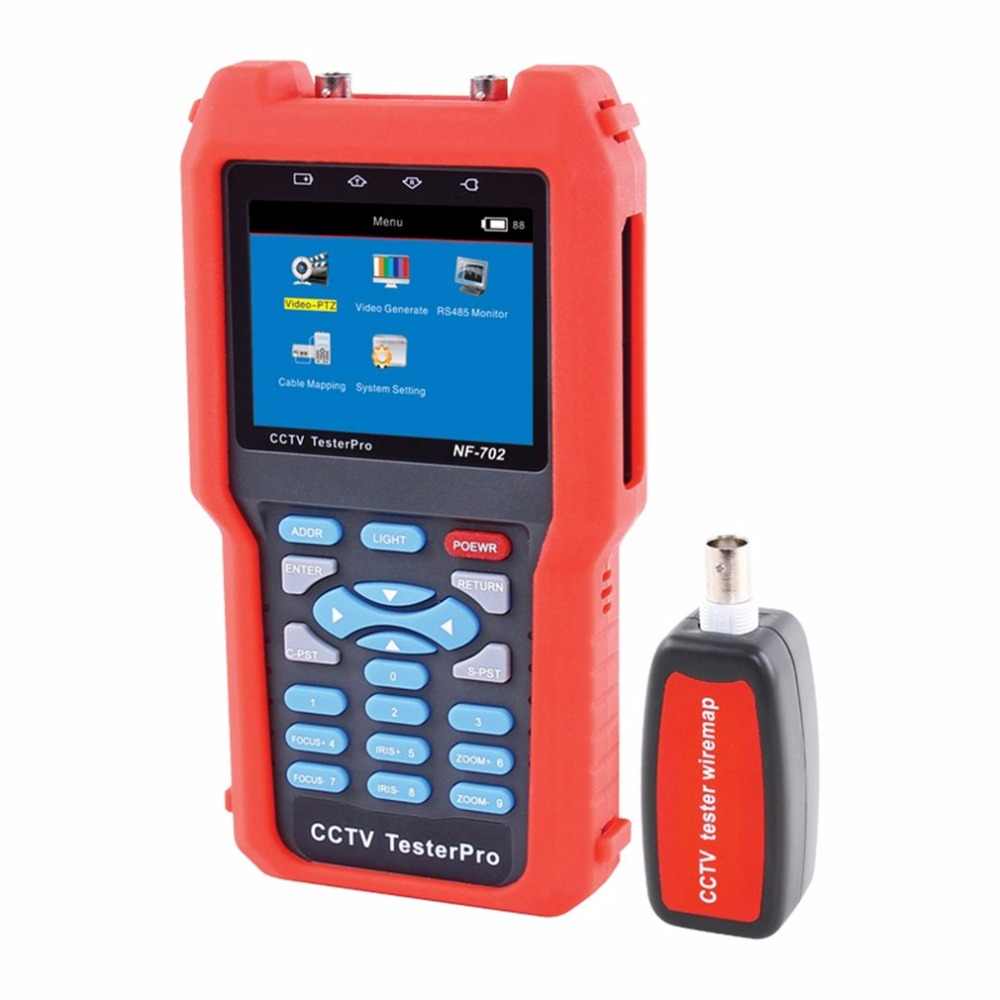 NOYAFA NF-702 Multi-function LCD CCTV Tester Line Finder Wire Tracker Diagnose Tone Tool Kit LAN Network Cable Tester nf 806r communication cable wire tone tracker combo with carrying pouch 2 x 6f22 9v