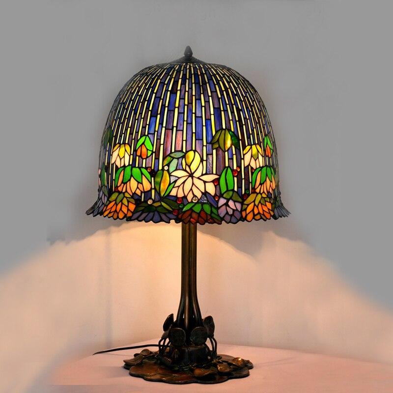 FUMAT Glas Kunst Tischlampe Qualität Europäischen Stil Seerose - Innenbeleuchtung - Foto 3