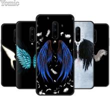 Soft Cover Shell for Oneplus 7 7 Pro 6 6T 5T Silicone Phone Case for Oneplus 7 7Pro Black Case angel wings