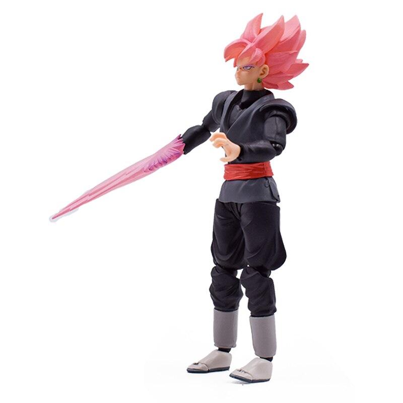 15cm dragon ball super goku preto zamasu pvc figura de ação coleção modelo crianças brinquedo boneca frete grátis
