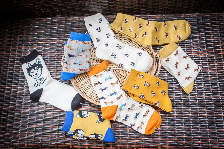 Quality New Creative Men Women Zoo Cotton Socks Animals Fox Dog Female Cartoon Unisex Lovely Women Socks Drop Shipping 1 Pair 1
