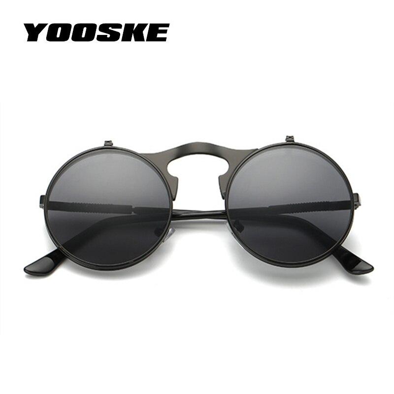 8a0db098ec3 YOOSKE Vintage Steampunk Sunglasses Women Round Metal Frames Steam punk Sun Glasses  Men Brand Designer Retro Eyewear UV400-in Sunglasses from Apparel ...