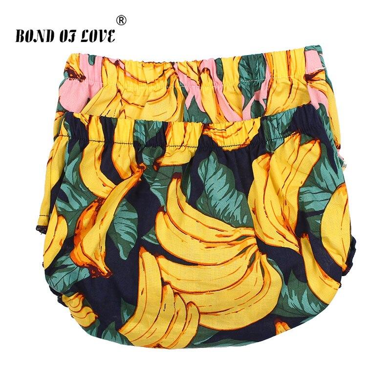 2020 Newborn Bloomers Baby Girls Shorts Banana Pattern Infant Tutu Short PP Fruit Print Cotton Bloomer Cute Baby Underwear