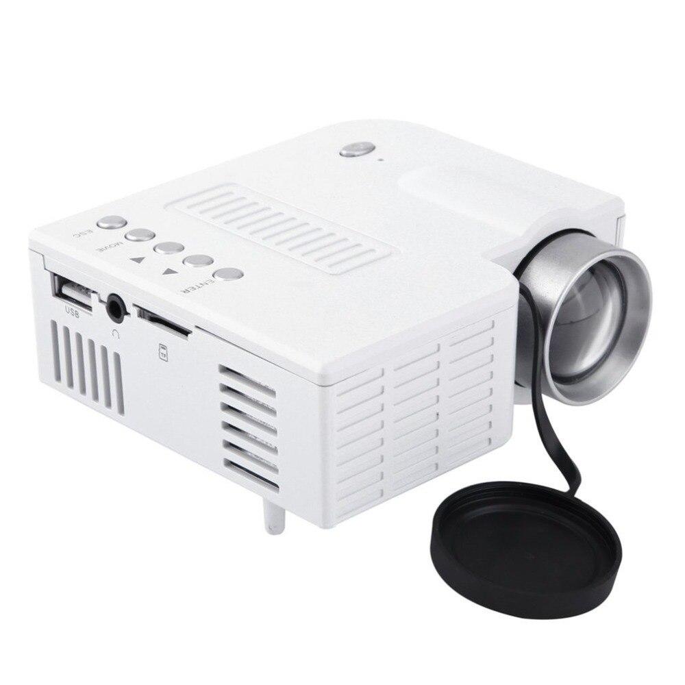 UC28A Mini Portátil LED Projetor 1080P Multimedia Home Theater Cinema TF USB HDMI AV LEVOU Projetor Projetor para Casa use dropship