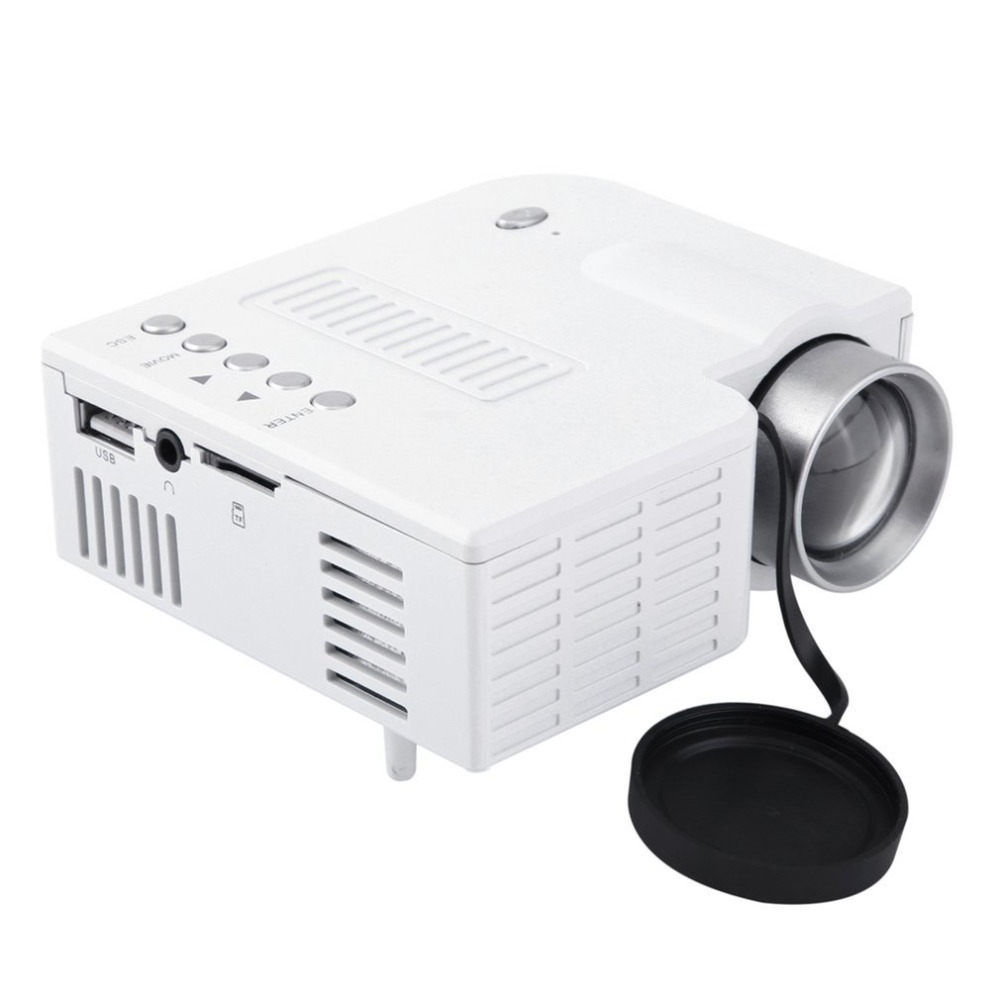 UC28A Mini Portátil LED Projetor 1080P Multimedia Home Theater Cinema TF USB HDMI AV LEVOU Projetor Projetor para Casa use dropship