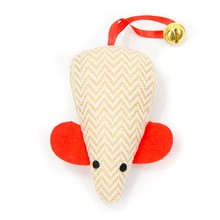 Mouse Shape With Ring Tail Pet Toys for Cat New Squeaker Soft StufferToys