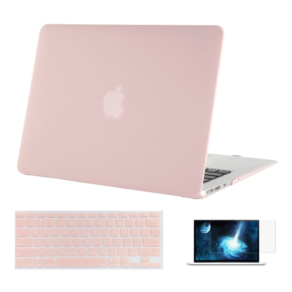 Mosiso Laptop Clear Coque Hard Cover Case For Macbook Air 13 Inch A1466/A1369 +Silicone KB Cover+Screen Protector Year 2012-2017