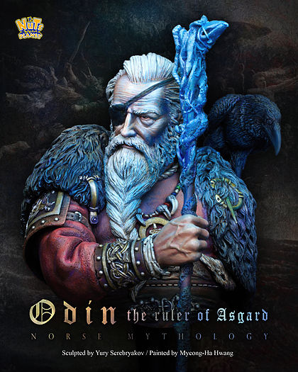 (5pcs/lot) Brand New 1/10 Scale Resin Bust Model Toys Odin The Ruler of Asgard Assembly DIY Resin Bust Figure Model Toy