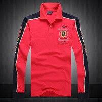 Aeronautica Militare Camisa Masculina Polo Mens Long Sleeve Shirt Brands Air Force One Shark Solid Tops