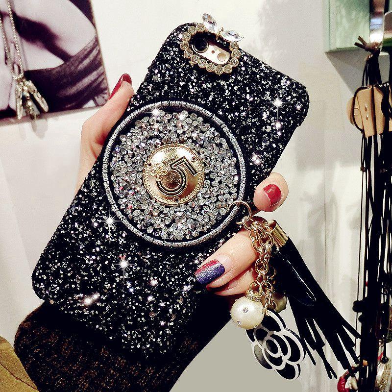 Цвета: золотистый, серебристый розового цвета телефон чехол для samsung Galaxy A5 A8 A3 A7 S8 S9 S7 роскошные зеркала оболочки с волос мяч Ленточки цепи ...