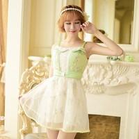 Princess sweet lolita dress Candy rain Japanese style sweet Pure and fresh embroidery Condole belt Net yarn dress C15AB5837