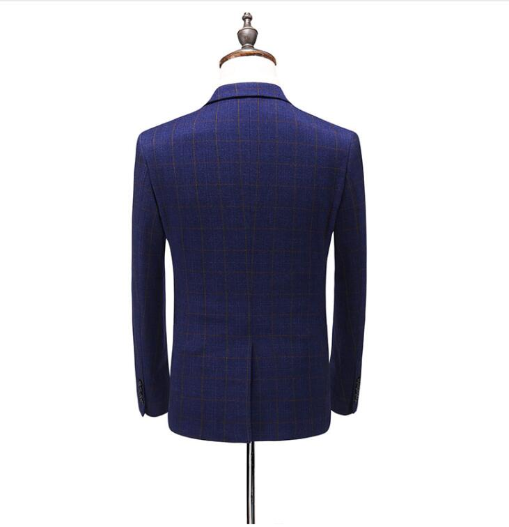 2019 Suit Custom Made High Quality Fashion Casual Plaid Suit Men Men 39 s Business Classic Suits Plus size Mens Wedding Wear in Suits from Men 39 s Clothing