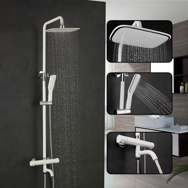 bathroom three water diversion triple cold hot water constant temperature faucet shower