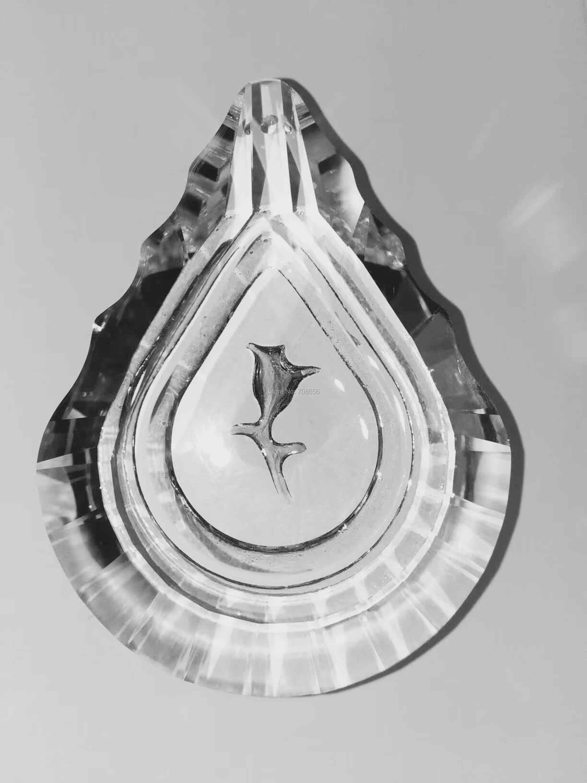 50 шт. 76 мм призмы-кристаллы с цветком, подвесные люстры части люстры УФ-лампа освещение висят капли