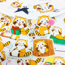 38 PCS Cartoon civet cat life Stickers Crafts And Scrapbooking stickers book Student label Decorative sticker DIY Stationery