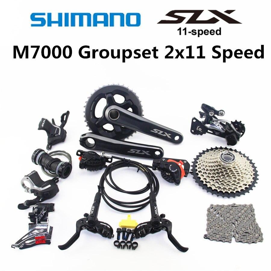 SHIMANO DEORE SLX M7000 Groupset 26 36T 28 38T Crankset Mountain Bike Groupset 2x11 Speed 40T