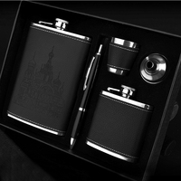 9oz Small Jug Portable Outdoor Portable Flask Set Food Grade 18 8 Stainless Steel Hip Flask