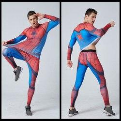 Bodybuilding 3d tshirt spider man compression tights men quick dry long sleeve t shirt fitness men.jpg 250x250