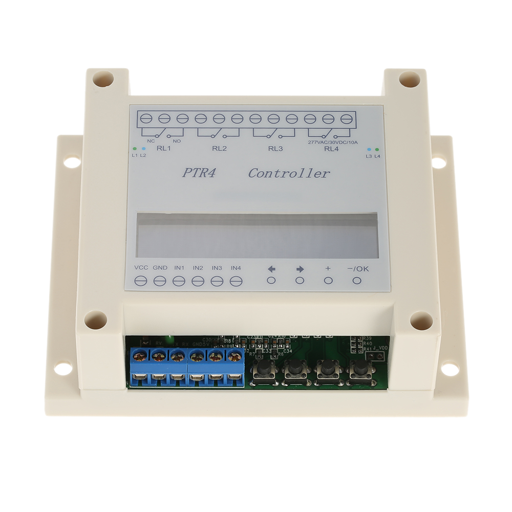 US $21 03 12% OFF|DC6 40V 4 Channel Programmable Digital Time Relay Timer  Controller Delay Switch Module Independent Timing Cycle LCD Display-in