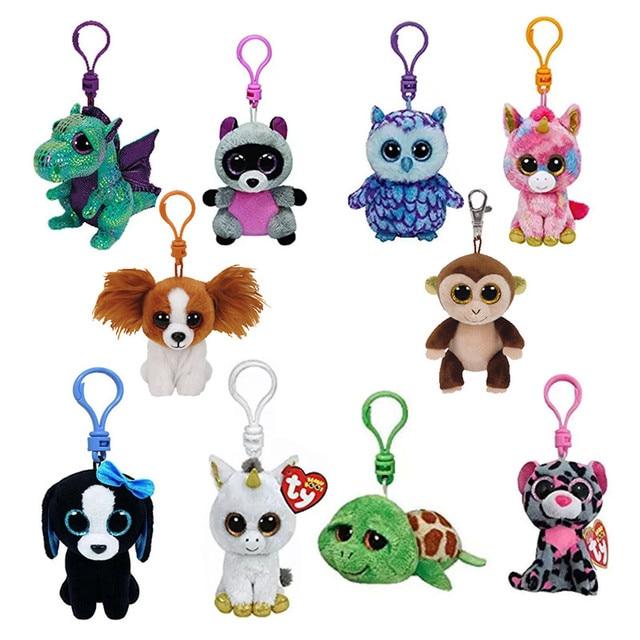 e6184cfd158 Ty Beanie Boos Plush Toys Beanie Babies Big Eyes Elephant Owl Avril Rabbit  Reg Pink Twigs Sly Unicorn Animal Doll Keychain