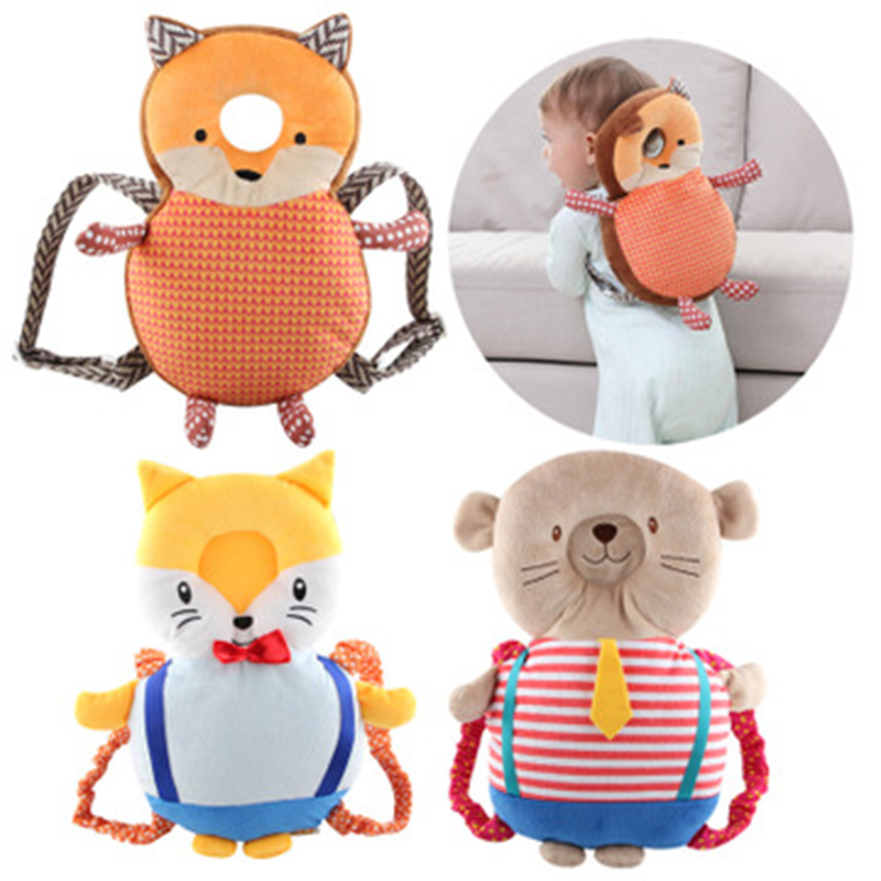 ideacherry Hot Sale Baby Head Protection Pad Toddler Headrest Pillow Baby Cute Bear Nursing Drop Resistance Cushion Baby Protect
