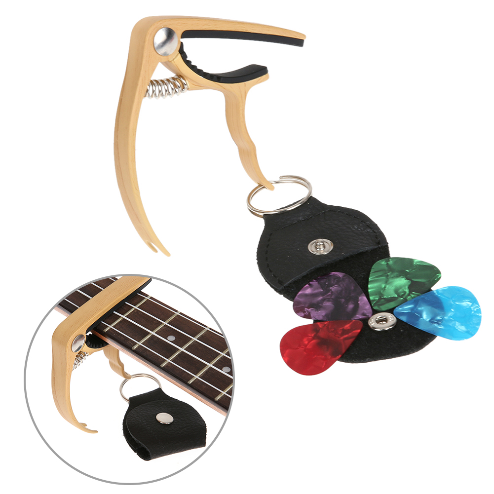 dd4c8e6e4dd3b Guitar Pick and Capo Integrated Portable Classical Guitar Tone Tumtum Combo  Modified Tone Adjust Peg Guitar Parts   Accessories - us293