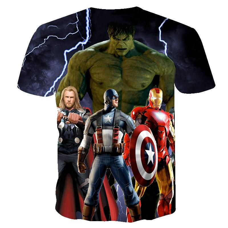 Bambini Maglietta a Maniche Corte con Hulk Marvel