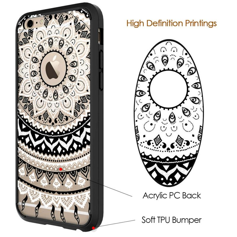 GrandEver Luxury Case for iPhone 6 6s Plus Case Retro Totem Mandala - Բջջային հեռախոսի պարագաներ և պահեստամասեր - Լուսանկար 3