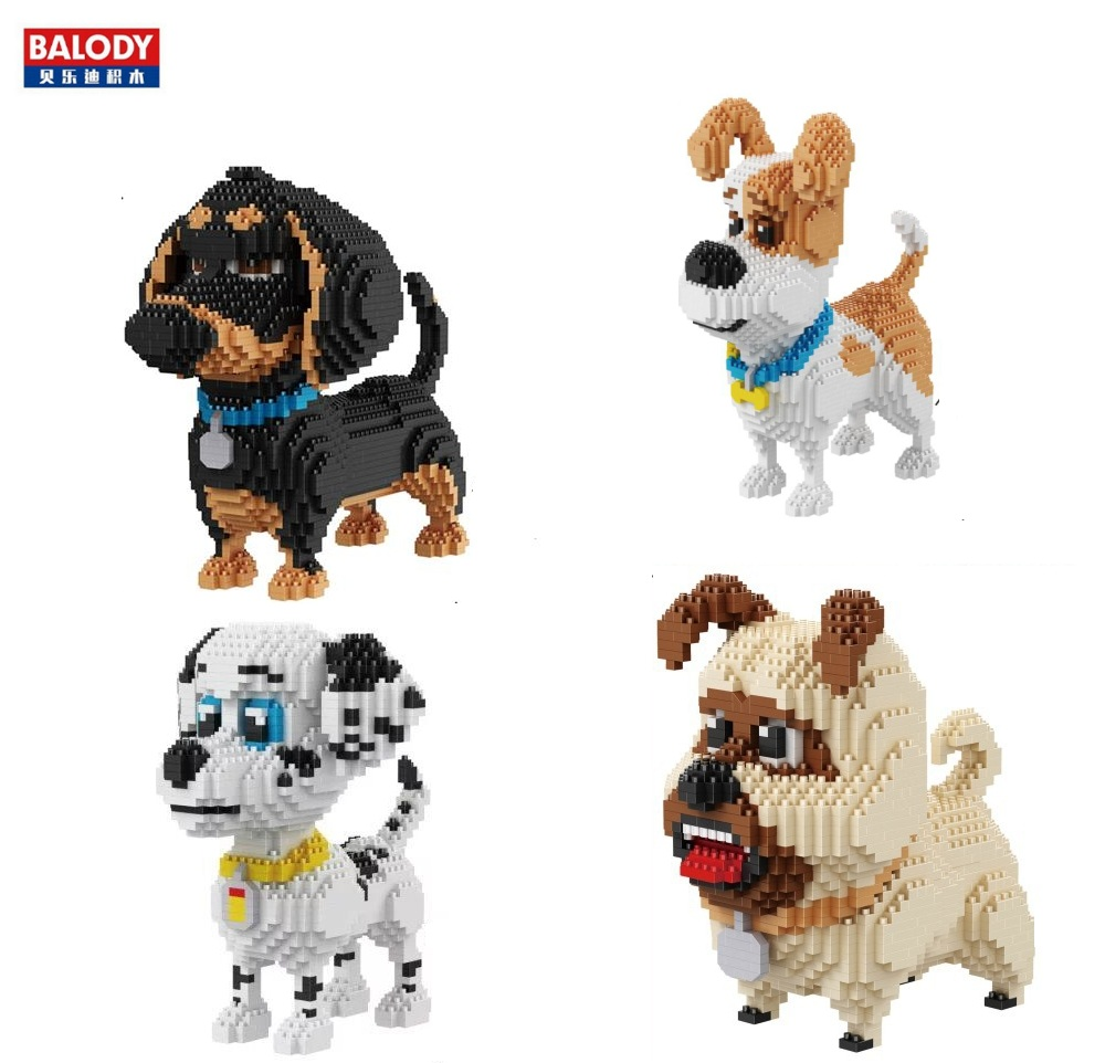 Balody Diamond Blocks Dog Model Small bricks dachshund Toy Assembly brinquedos action figure Kids Gifts toys for children 16014 loz diamond blocks assembly display case plastic large display box table for figures nano pixels micro blocks bricks toy 9940