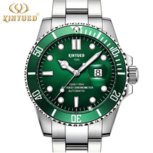 KINYUED Luxury Fashion Business Mens Mechanical Watches Stainless Steel Waterproof Calendar Classics Sport Automatic Men Watch