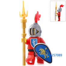 8PCS Sparta Medieval Knights Heavy Roman Soldiers A guard unit Bricks Figures Weapon Building Block toys Compatible LegoINGly
