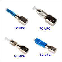 FC/SC/LC/ST UPC adaptador de fibra Nua, montado nua conector de fibra, de modo único, material de metal