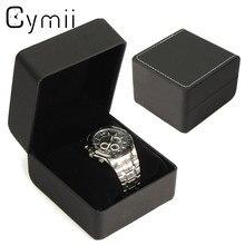 Cymii 1 Pcs Noir Montre-Bracelet Affichage Montres Box Case Holder Bijoux De Stockage Organisateur Titulaire Montre-Bracelet Cas Cadeaux