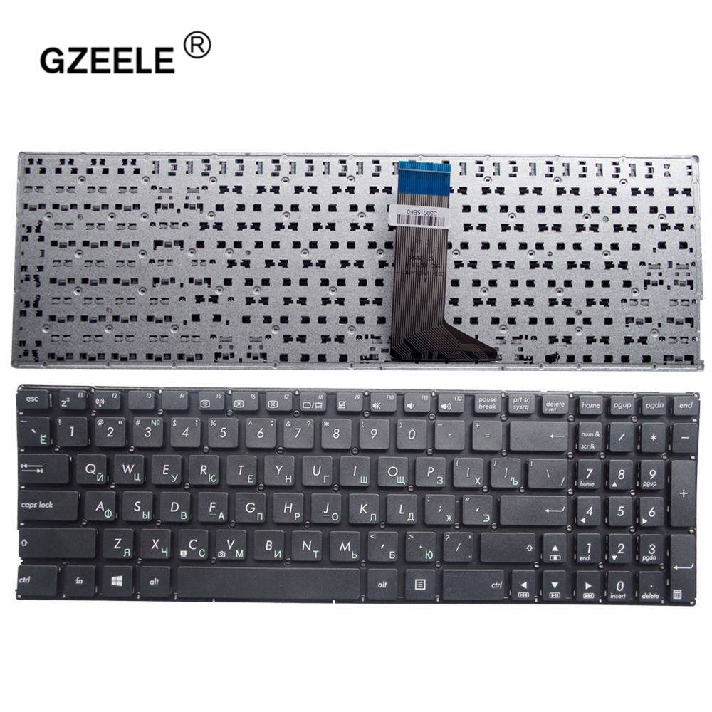 GZEELE RU BLACK Keyboard For ASUS X551 X551C X551CA X551MA X551MAV Replace Notebook Russian Keyboard Without Frame Black