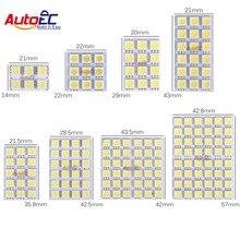 Autoec 4x led لوحة 6/9/12/15/18/24/36/48 smd 5050 t10 ba9s محول اكليل قبة ضوء اكسسوارات السيارات dc12v # LL13