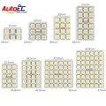 Autoec 4x led painel 6/9/12/15/18/24/36/48 smd 5050 t10 ba9s adaptador festoon dome luz auto acessórios do carro do motor dc12v # ll13