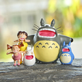 Clásico Juguetes Mi Vecino Totoro Figura de Studio Ghibli Miyazaki Hayao Totoro Satsuki Gritando Mei Resina Figura de Acción de Juguete Modelo