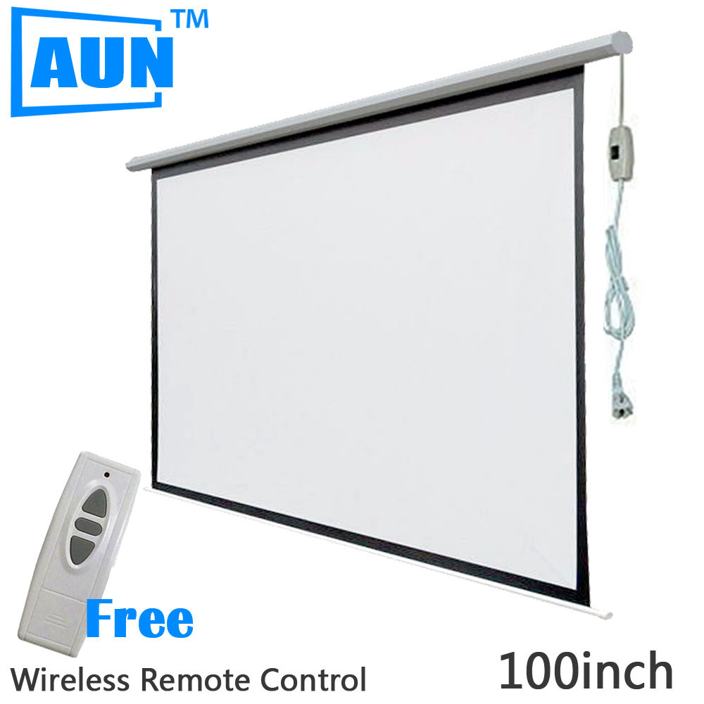 Online buy wholesale electric projector screen from china for 130 inch motorized projector screen