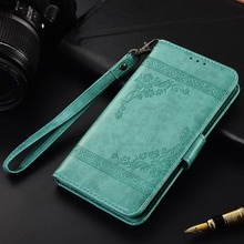 Кожаный чехол-книжка для Digma LINX Pay 4G, чехол Fundas с цветочным принтом, специальный чехол-бумажник с подставкой и ремешком