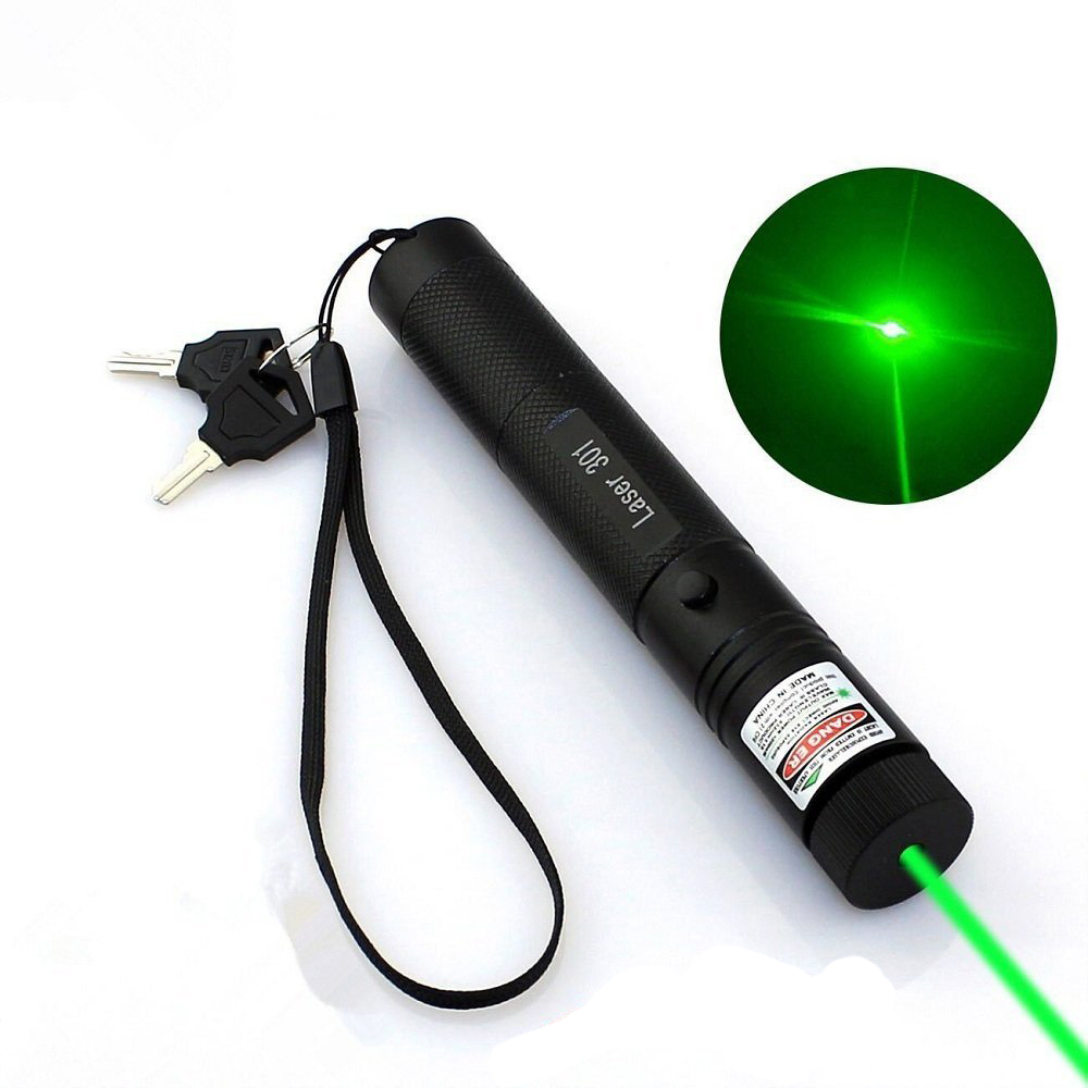 Green Laser Pointer Pen Hunting Rifle Scope Adjustable 3 in 1 Flashlight Torch Sight Dot Scope Burning Rechargeable Battery