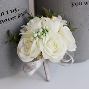 Noiva bouquets noivo boutonniere flor de casamento para festa de formatura de casamento 899