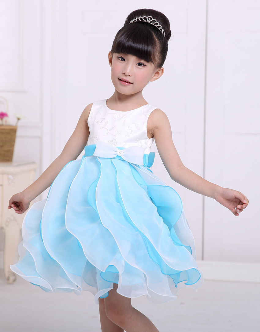 ФОТО New 2 to 7Years Girls Clothes Girl Dress White purple  Red Net yarn Christmas Dress Princess Sress Roupas Infantis Menina dress